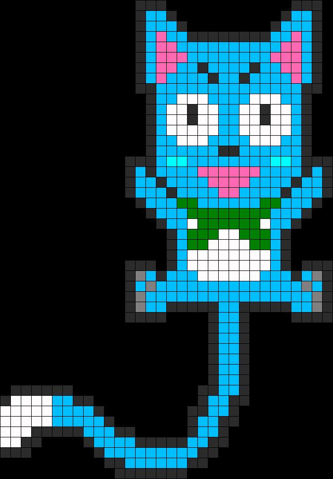 Fairy Tail Happy Perler Bead Pattern Bead Sprite Fairy Tail