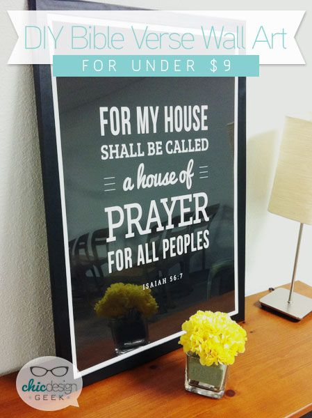 Diy Verse Wall Art For Under 9