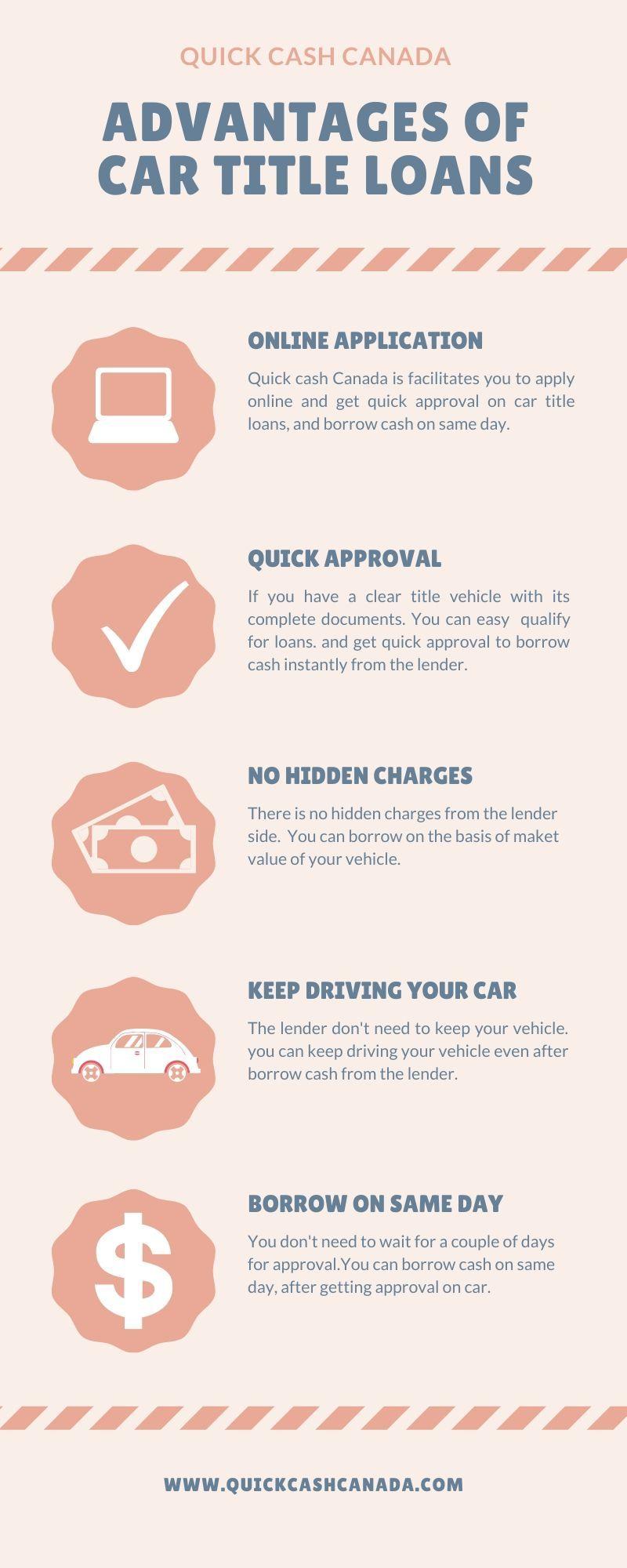 Take An Advantages Of Car Title Loans Toronto In 2020 Car Title Instant Money Quick Cash