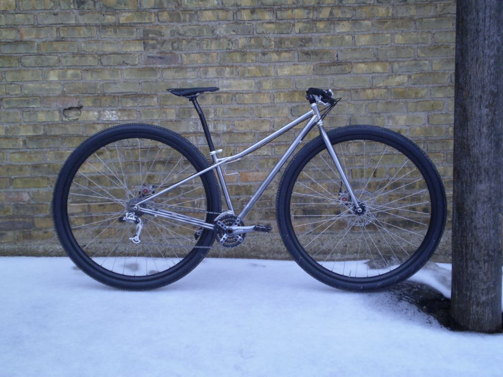 2e1cacdfe22 Ben Witt's of Milltown Cycles builds 36ers. Rigid mountain bike with 36  inch wheels. Pofahl