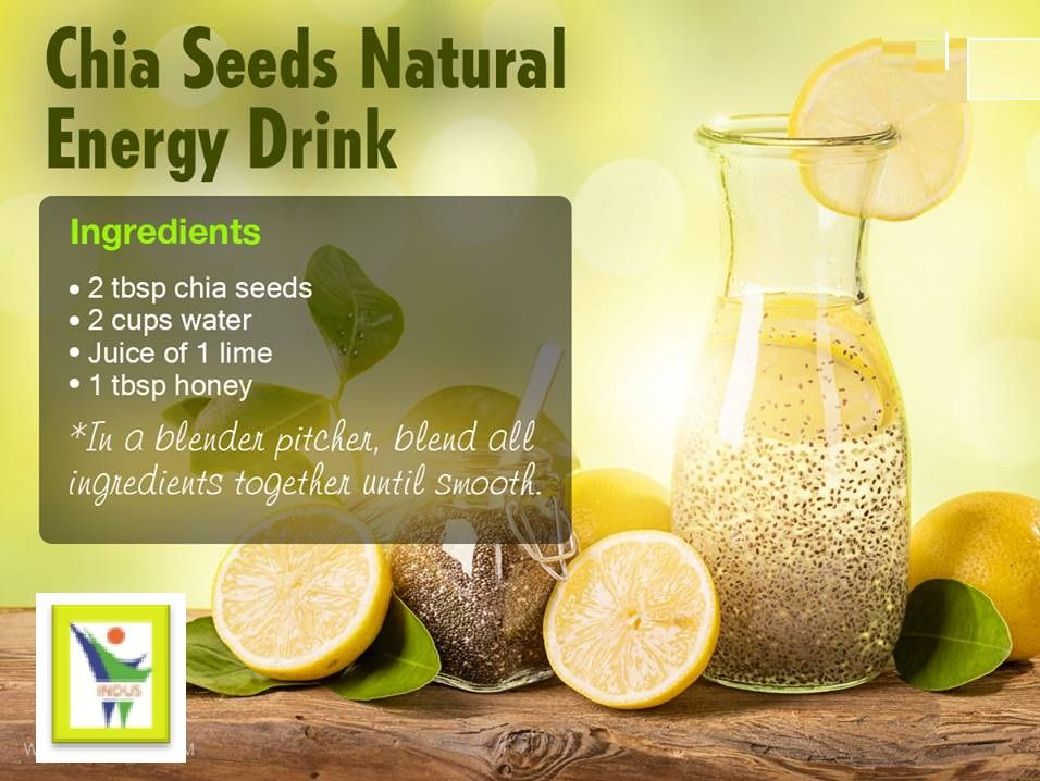 Chia Seeds Natural Energy Drink..