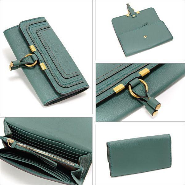 921d08e0265a 個性あふれたクロエ【Chloe】マーシー つ折長財布 ユーカリプタスグリーン売れ筋商品。