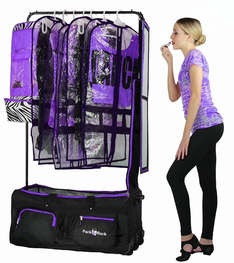 Pack 2 Rack Rolling Foldable Dance Bag Dance Moms
