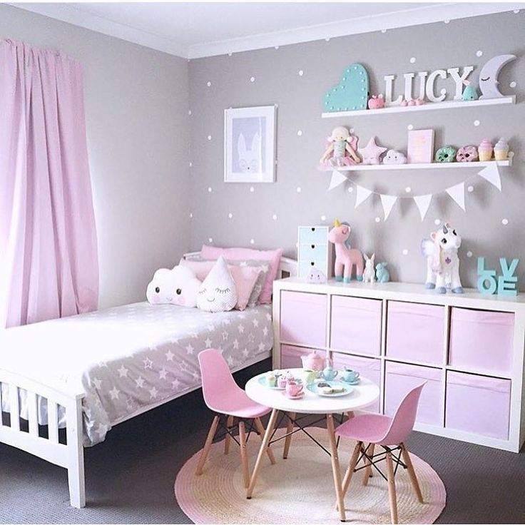27 Girls Room Decor Ideas To Change The Feel Of The Room Enthusiasthome Girl Bedroom Decor Toddler Bedrooms Toddler Bedroom Girl