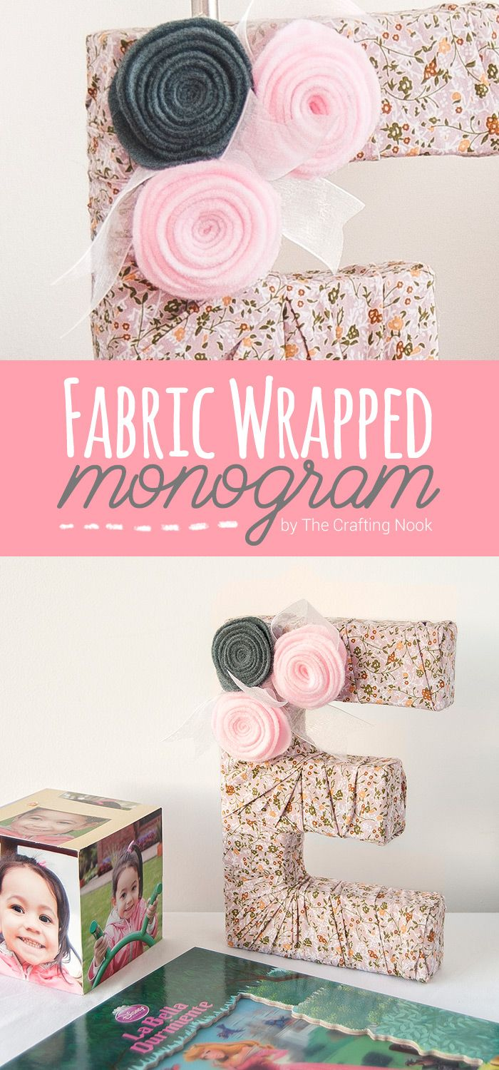 DIY Fabric Wrapped Monogram | Monograms, Decorating and Wraps
