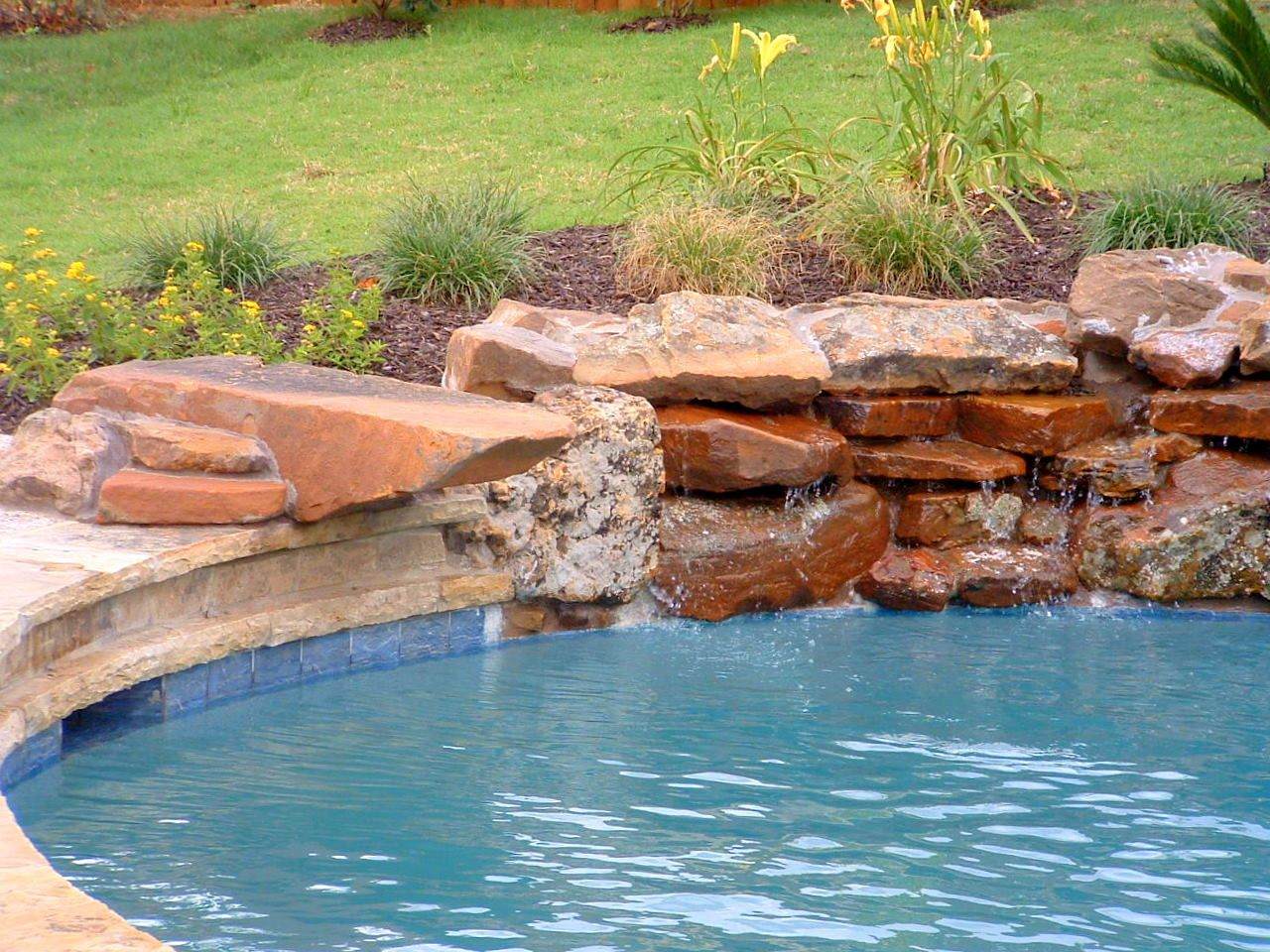 Diving Rock Pool Landscaping Pool Pool Waterfall