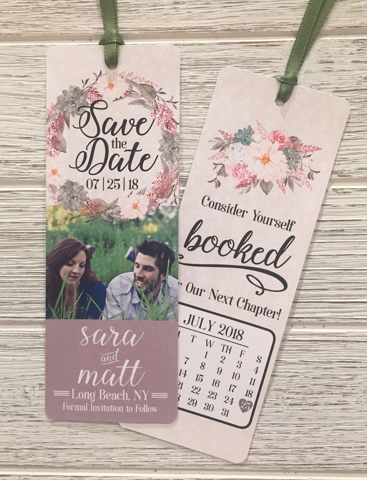 Customized Save The Date Bookmark Save The Date Bookmark Etsy Save The Date Invitations Unique Save The Dates Invitations Save the date bookmark template