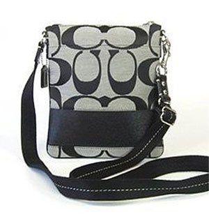471dac8866 ... Coach Signature Stripe Demi Crossbody Handbag Bag Purse 19218 Black  White httppeakmomentum.orgqpn-pinnable-postcoach-signature-stripe ...