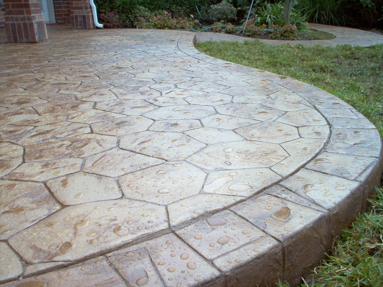 Patio Flooring Pattern. Complete Pool, Tile, Coping, Diamond Brite, And