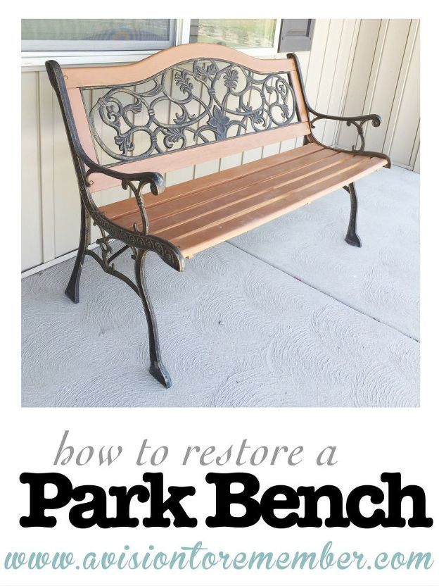 How To Restore An Old Park Bench Decoracao De Ferro Decoracao E