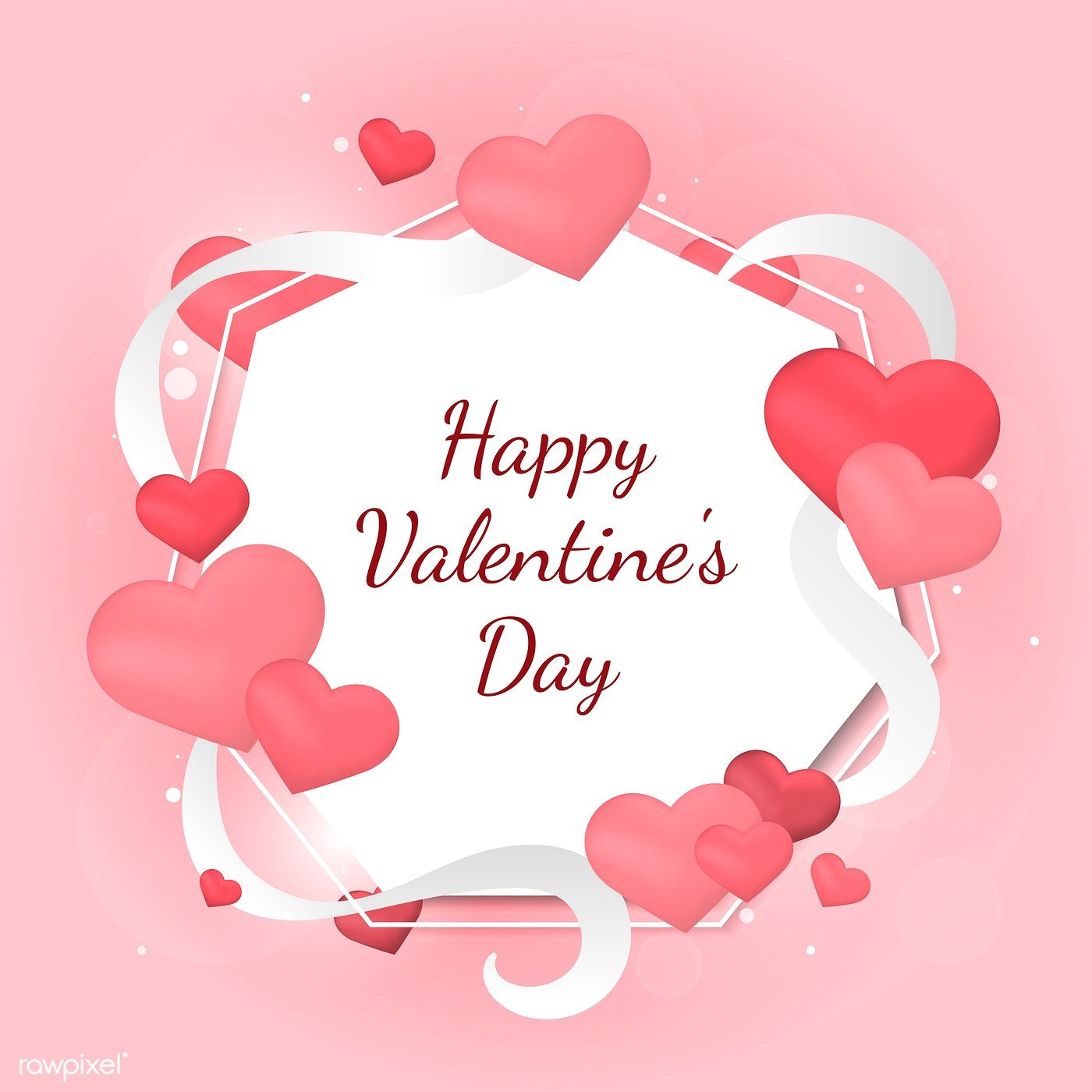 Valentine S Day Vector Design Concept Free Image By Rawpixel Com Sasi Happy Valentines Day Images Happy Valentine Happy Valentines Day
