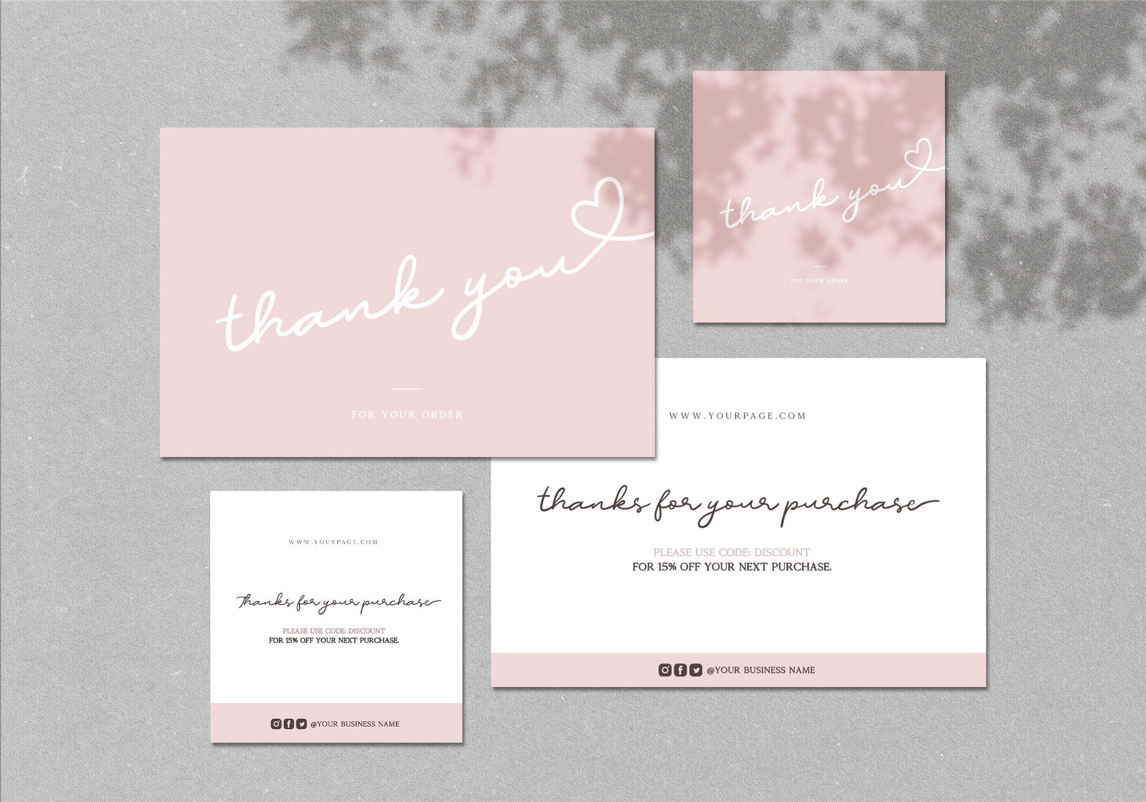 Small Business Thank You Card Template Valentine Day Package Etsy In 2021 Thank You Card Template Business Thank You Cards Thank You Cards