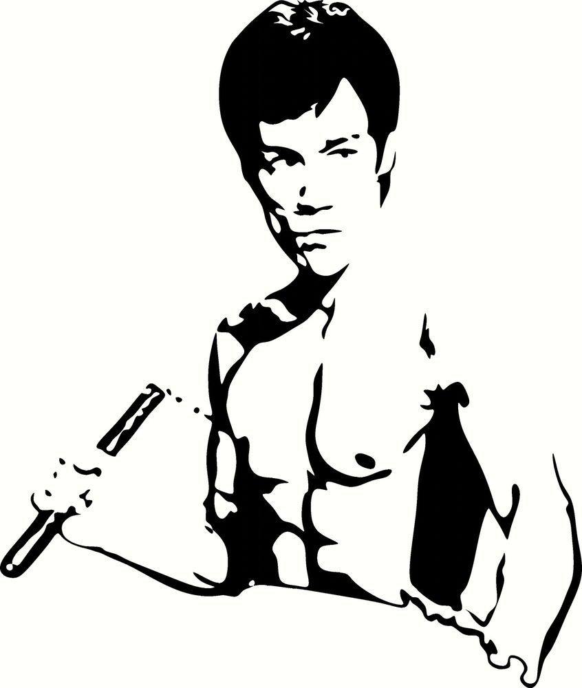 Bruce Lee Universal Vinyl Cut Out Decal Sticker in WHT
