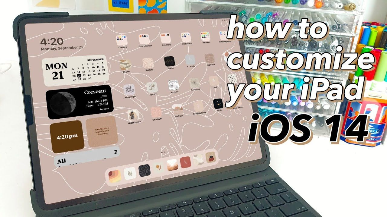 How to Customize Your iPad with iOS 14 | Aesthetic