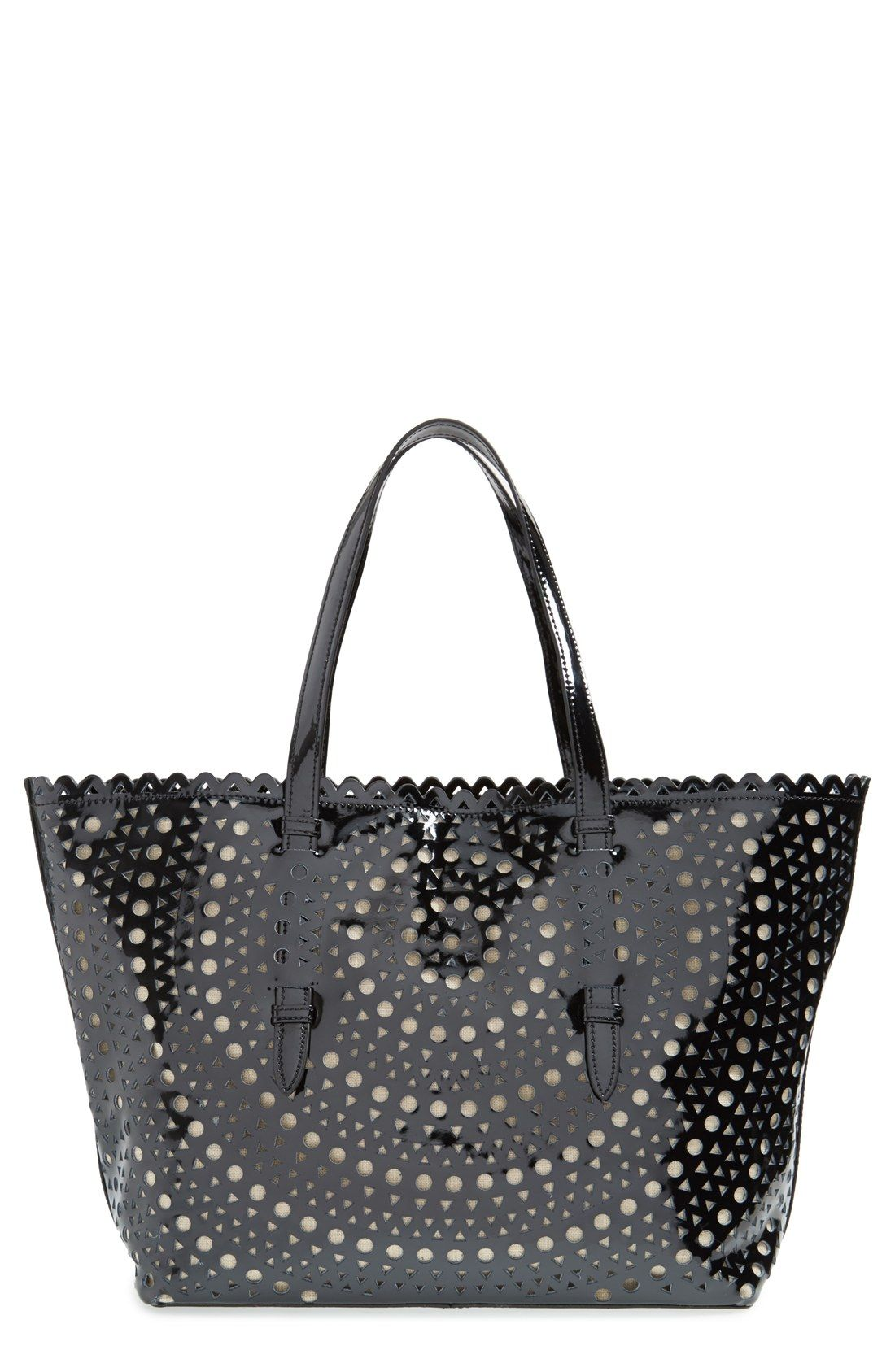 Sondra Roberts Perforated Leather Tote | Nordstrom