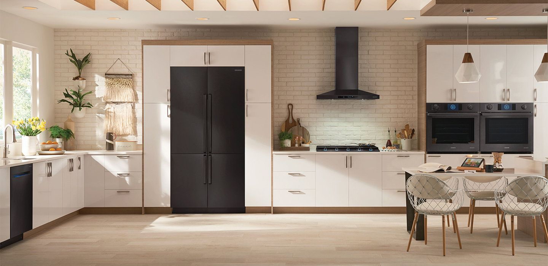 Professional Grade Home Kitchen Commercial Appliances For Home Samsung Us Matte Black Home Kitchens Kitchen Home