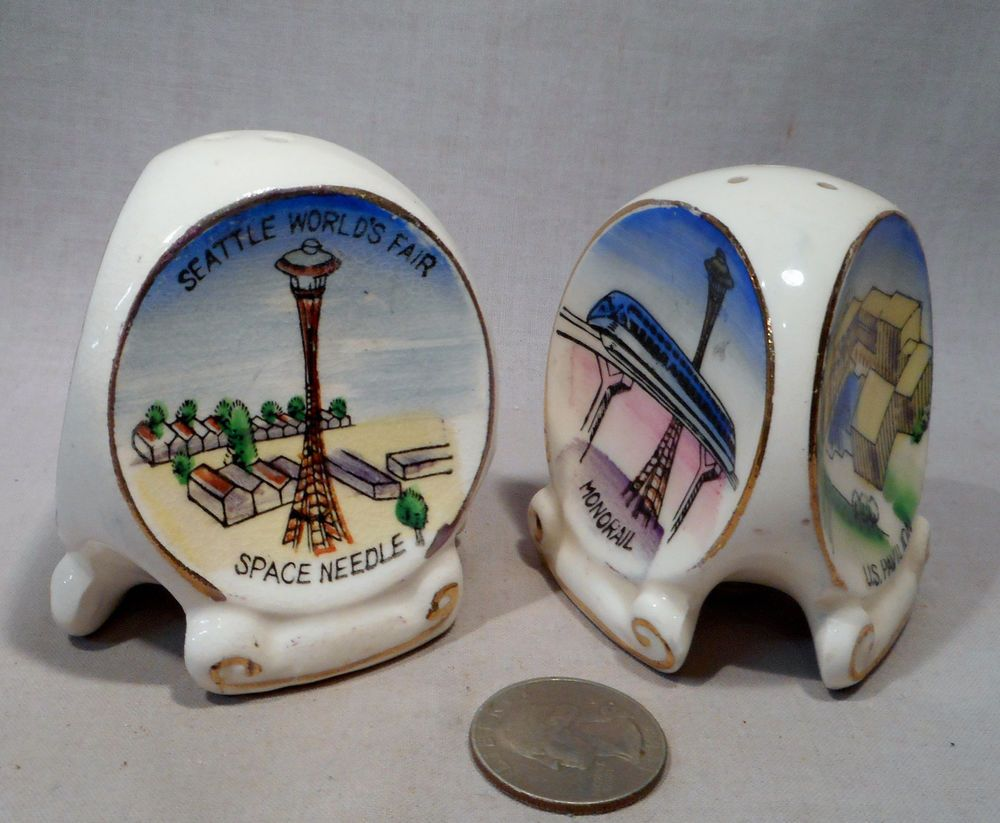Vintage Seattle World's Fair S&P Shakers  | eBay