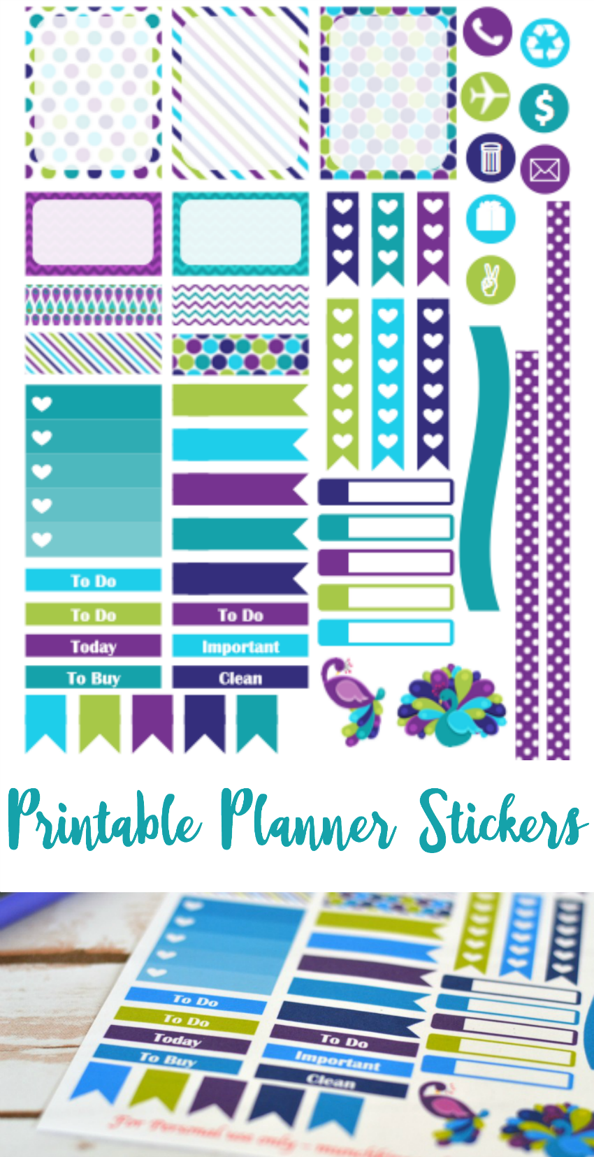 FREE purple peacock printable planner stickers for Septmeber Erin Condren Life Planner   Follow me @prodanbenoli for more awesome pins!
