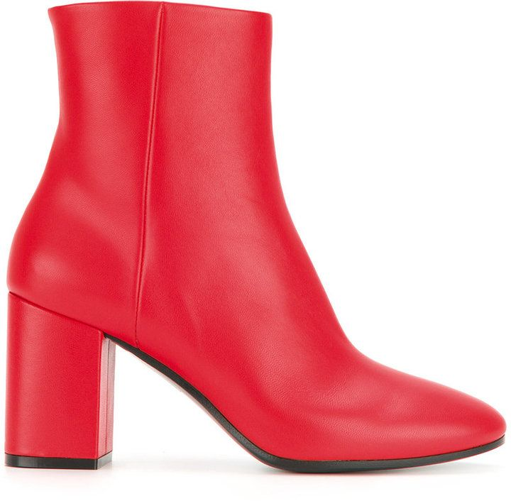 4a49a05ba42 Balenciaga Red Leather Ville 80 boots | Products in 2019 ...