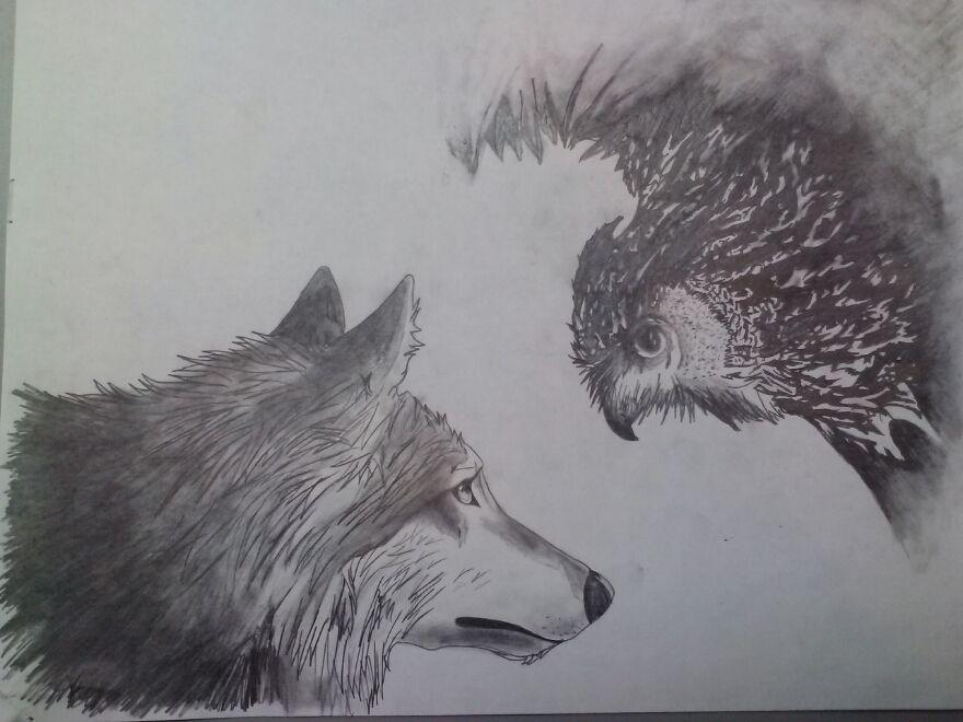 Owl Tattoo Design Spirit Animal Owl Tattoo Design In 2020 Owl Tattoo Design Wolf Tattoos Wolf Sleeve