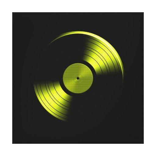 best retro vinyl record album in yellow canvas print retro vinyl record album in yellow. Black Bedroom Furniture Sets. Home Design Ideas