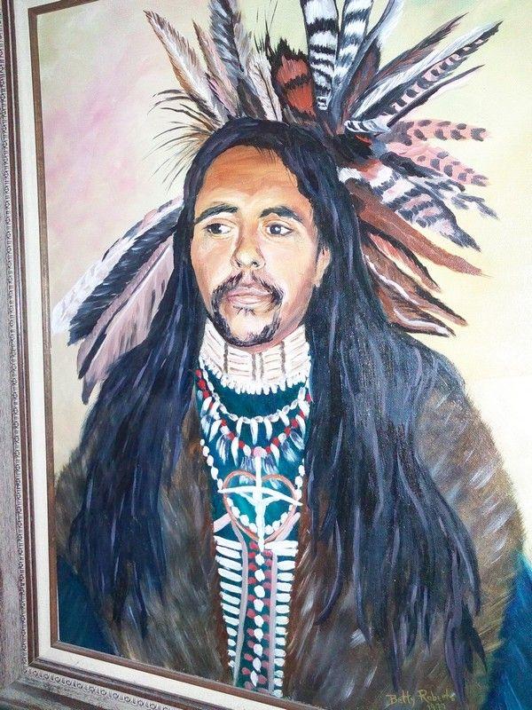 Ignacio,Co. Ute Indian    Oil by Bette' Roberts