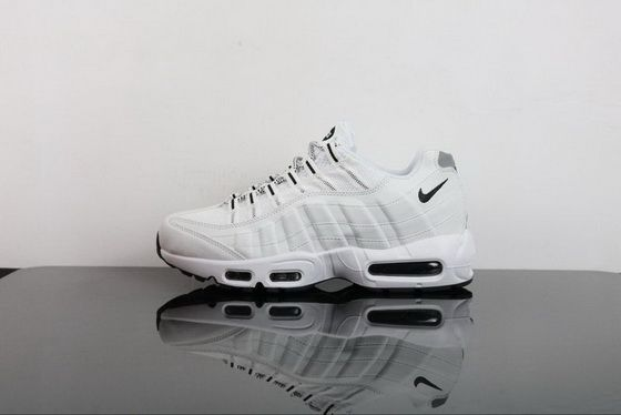 low priced 3cf98 1f92a Genuine 2018 Nike Air Max 95 Triple White Shoe