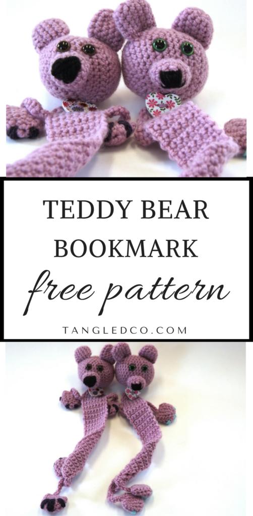 Teddy Bear Bookmark - Free Crochet Pattern   Amigurimi   Pinterest ...