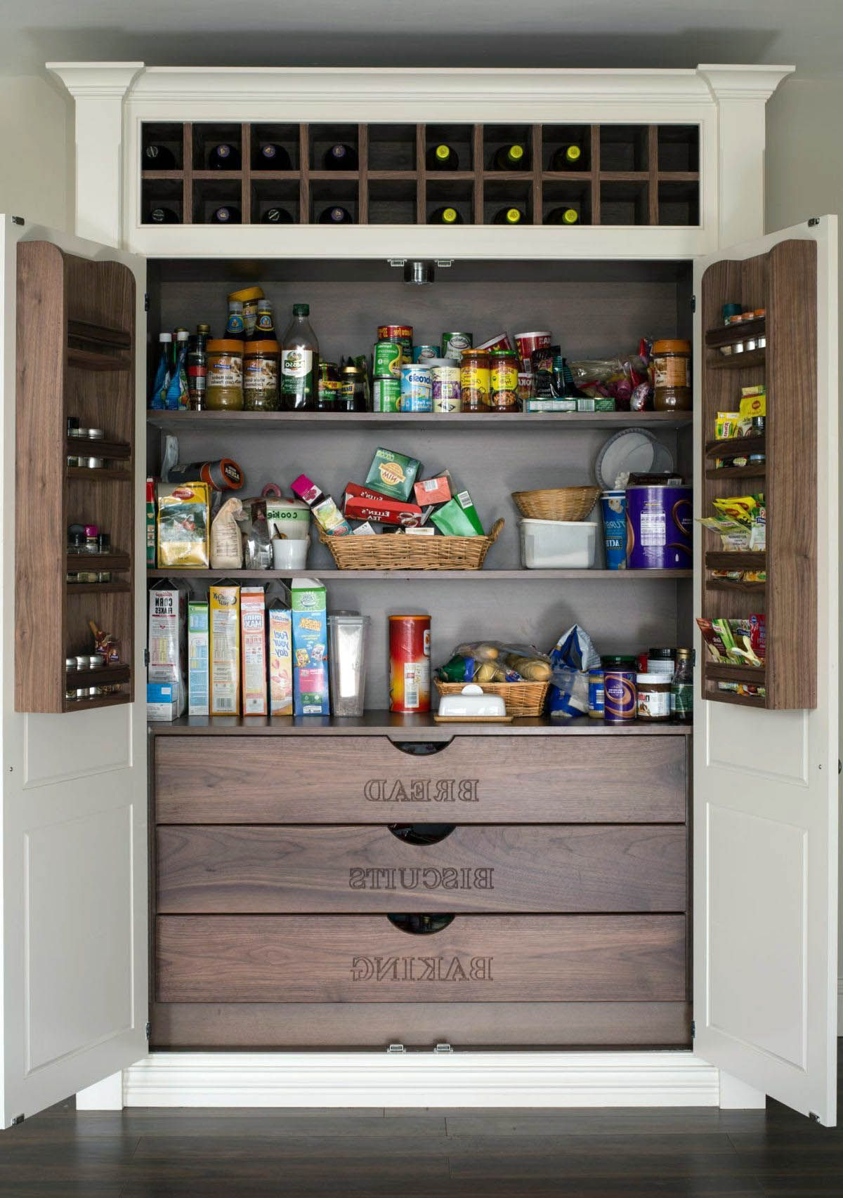 Real Home Inspiration Kitchen Pantry Cabinet 12 Inches Deep That Look Beautiful Kitchen Pantry Design Built In Pantry Pantry Design