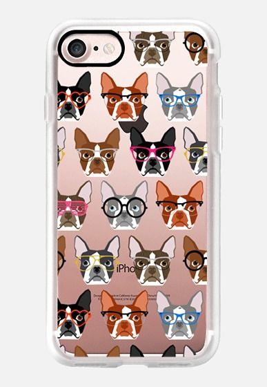 cbbabe920b4 Casetify iPhone 7 Classic Grip Case - Boston Terriers in Glasses - boston  terrier iphone 6 case
