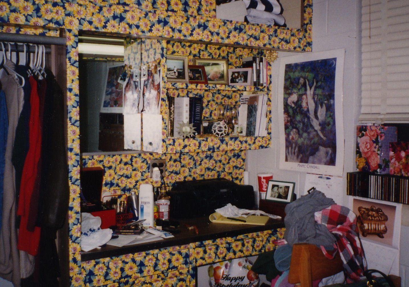 Unique dorm room ideas - Wall Paper Dorm Room Gone Wrong Wallpaper Dorm