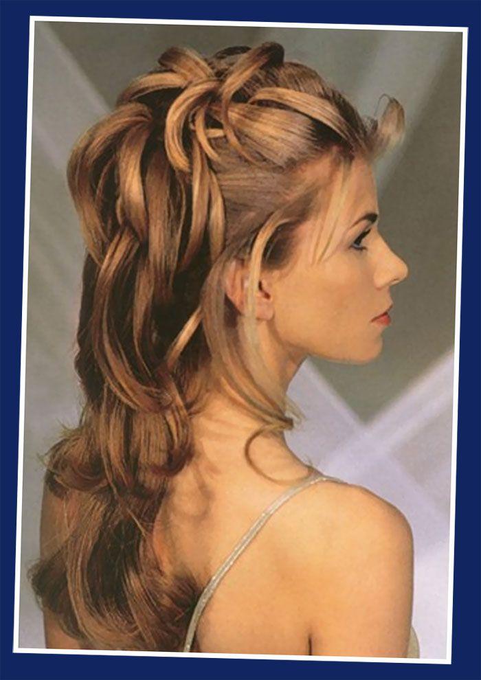 Up Hairdos For Long Hair | Half Up / Half Down Wedding Updos ...