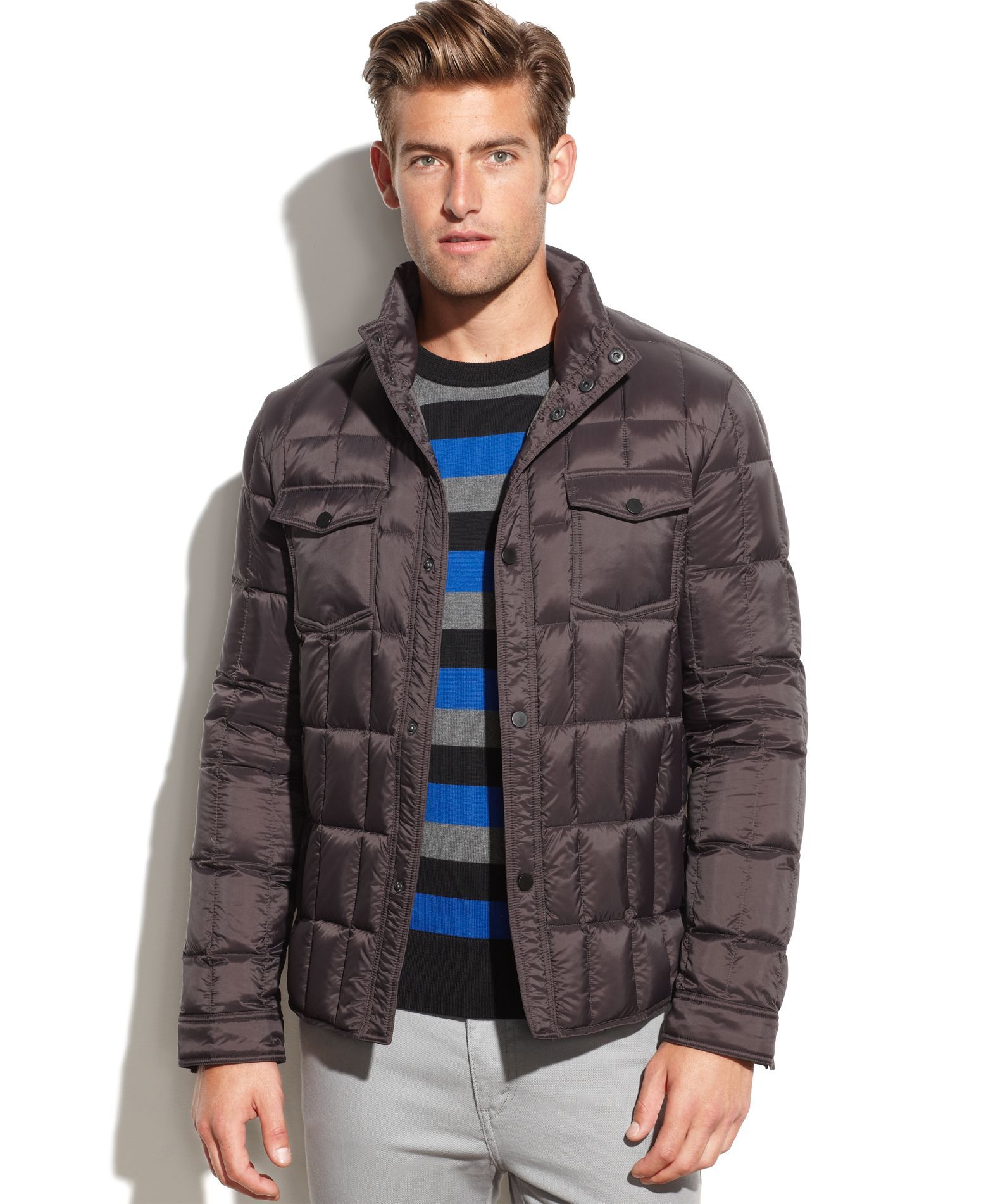 Kenneth Cole Box Quilted Puffer Jacket Coats Jackets Men Macy S Puffer Jackets Quilted Puffer Jacket Jackets [ 1902 x 1558 Pixel ]