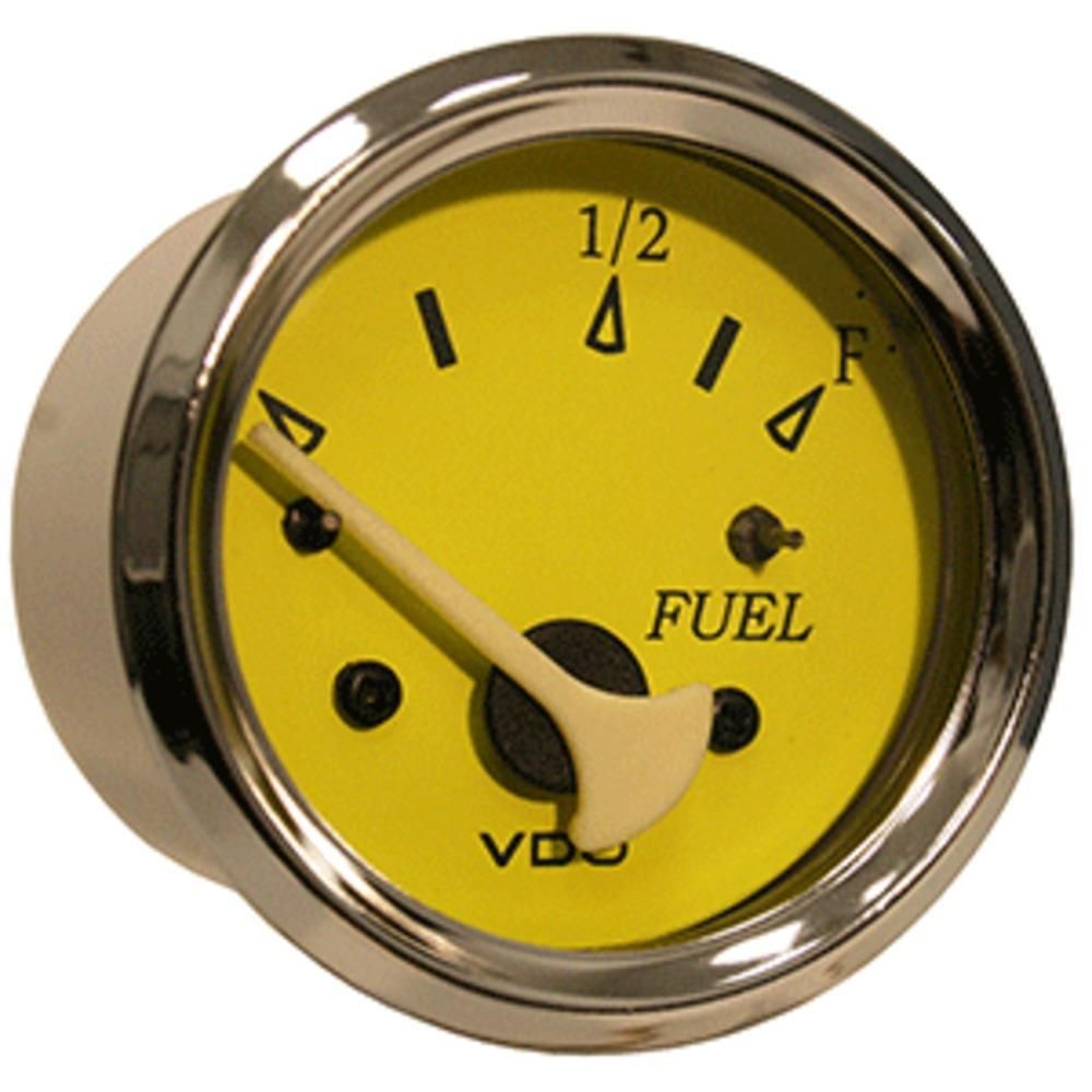 VDO Allentare Yellow-Blue Fuel Level Gauge - Use w-Marine 240-33 Ohm Fuel Senders - 12V