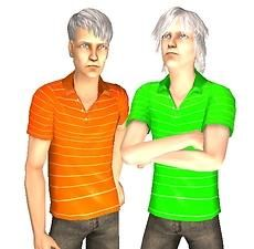 Mod The Sims - H&M Striped Poloshirts as Separates - for Elders