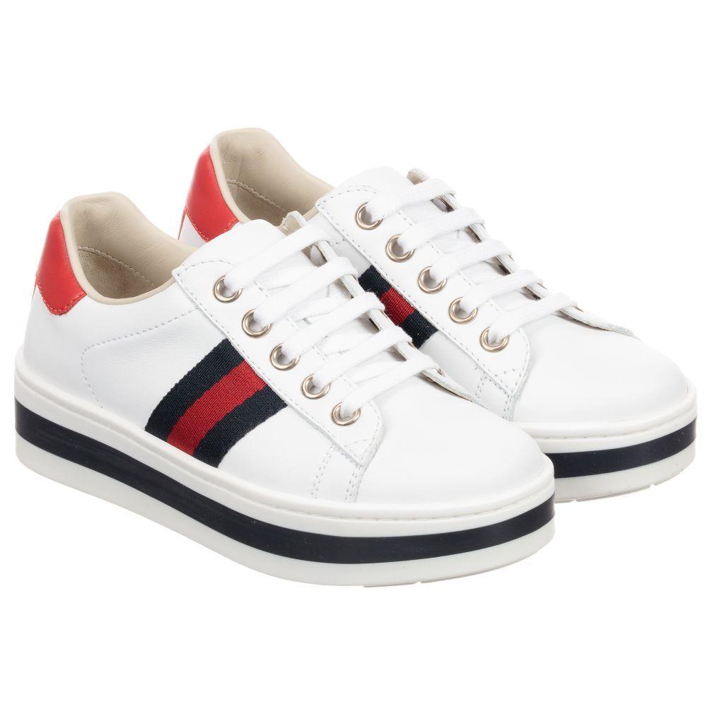 de018f8419e Gucci - Girls White Platform Trainers