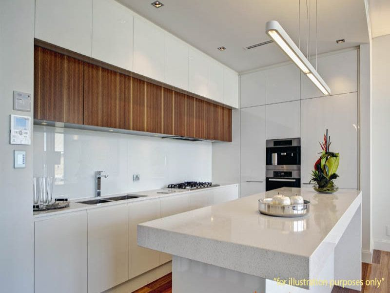 detailed look b4a62 4f1a1 Overhead kitchen cupboards in wood veneer | New kitchen ...