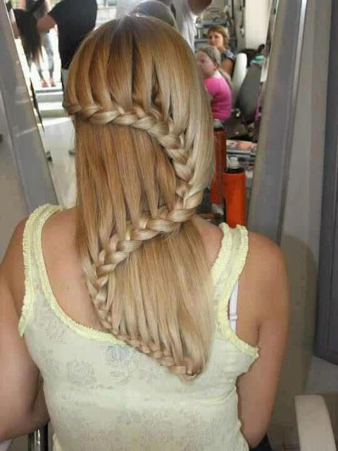"""Cecilia, I can *totally* see you with this """"Waterfall"""" braid - and the post includes a link to an instructional video tutorial!!  I fully expect to see your hair like this in July!!!  :)"""