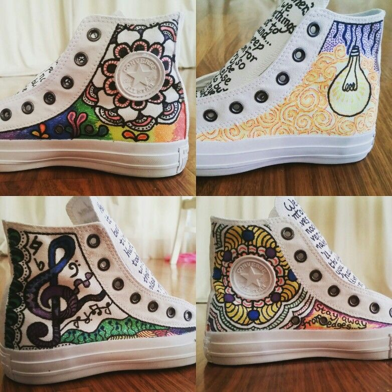 My custom Converse Chuck Taylors, done with Sharpie Stained