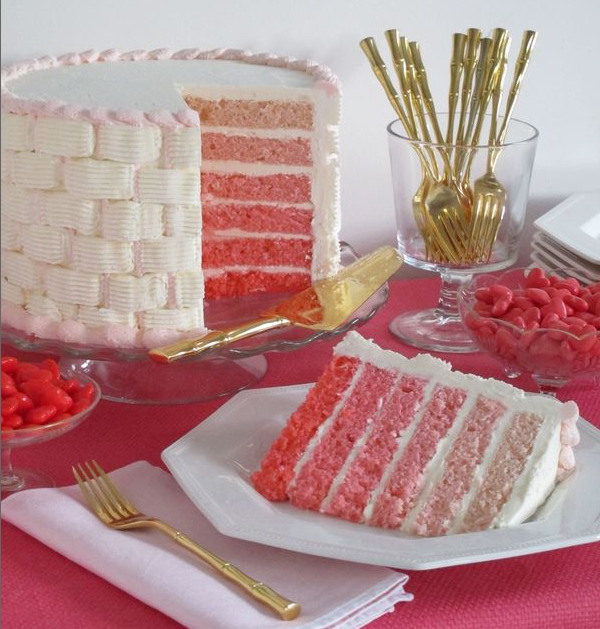 cake and its pink two of my favorite things in one