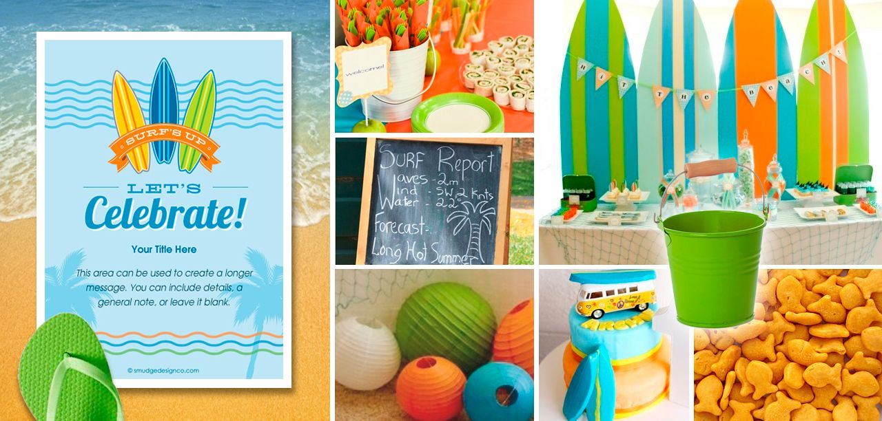 Hang Ten Surfing Surf Party Invitation PRINTABLE by ItsyBelle ...