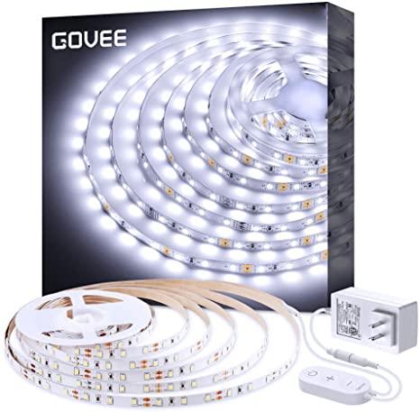 White Led Strip Lights Govee Upgraded 16 4ft Dimmable Led Light Strip 6500k Bright Daylight White Str Led Light Strips Dimmable Led Lights Led Strip Lighting