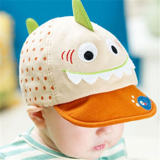 Shark cap for baby 3 to 12 months lovely animal baseball cap  78a6af4f114