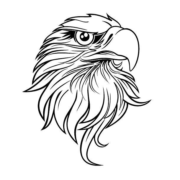 Incredible Simple Design Of An Eagle S Head Color Black Tags Easy Awesome Great Eagle Drawing Eagle Art Art