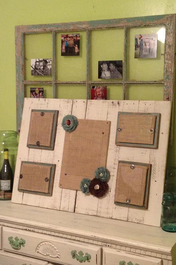 Distressed wood collage picture frame 8x10, 5x7 | Alte fenster ...