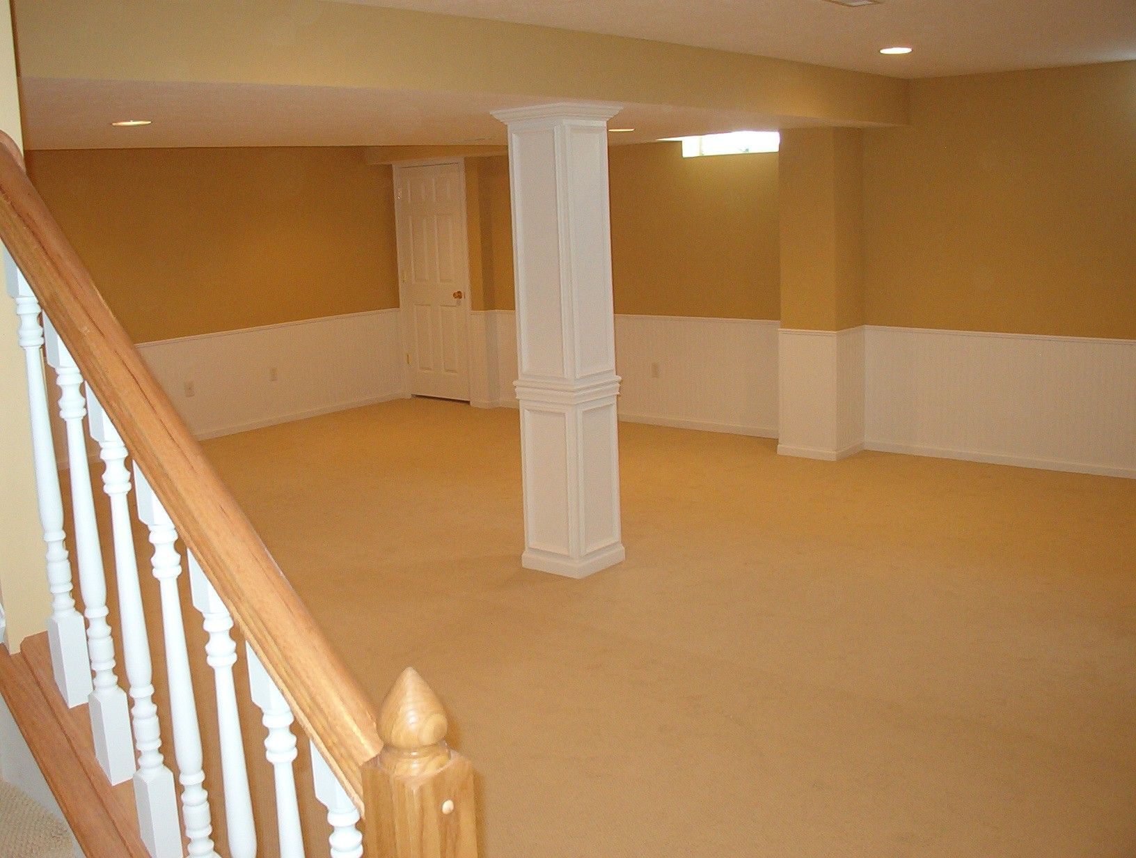 Wall Covering Ideas For Basements Part - 19: Finished Basement Ideas On A Budget - Decorative Pillar Covering.  Wainscoting