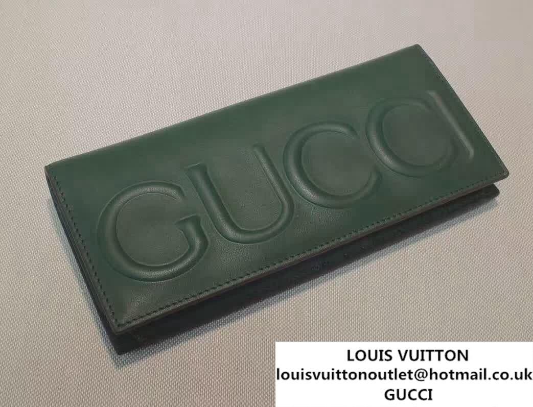 4c60dd28c93 Gucci XL Long Wallet 428779 Green 2016