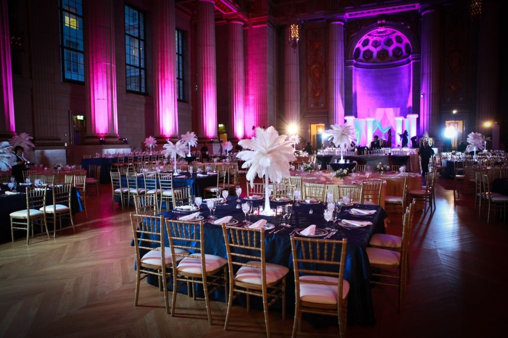 Navy Linens With Gold Chiavari Chairs And White Centerpieces Reception Decor Ideas Wedding Photos On WeddingWire