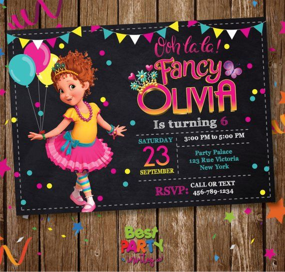 Fancy Nancy Invitation Digital Invite Printable File