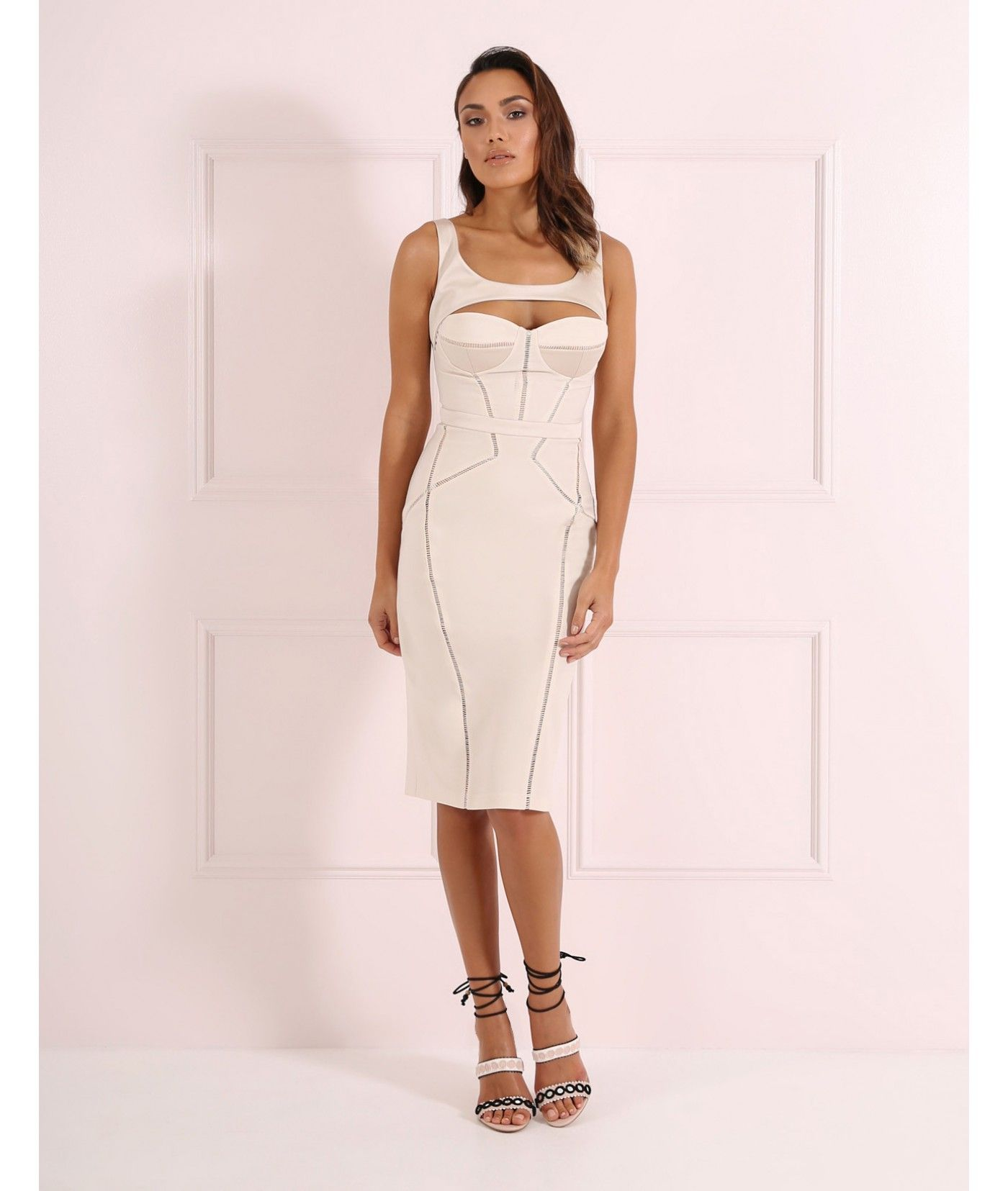 Sometimes You Can 39 T Go Wrong With A Neutral Coloured Dress And The Jane Pencil Dress Is No Exception With A Beautiful Pencil Dress Dresses Forever Unique
